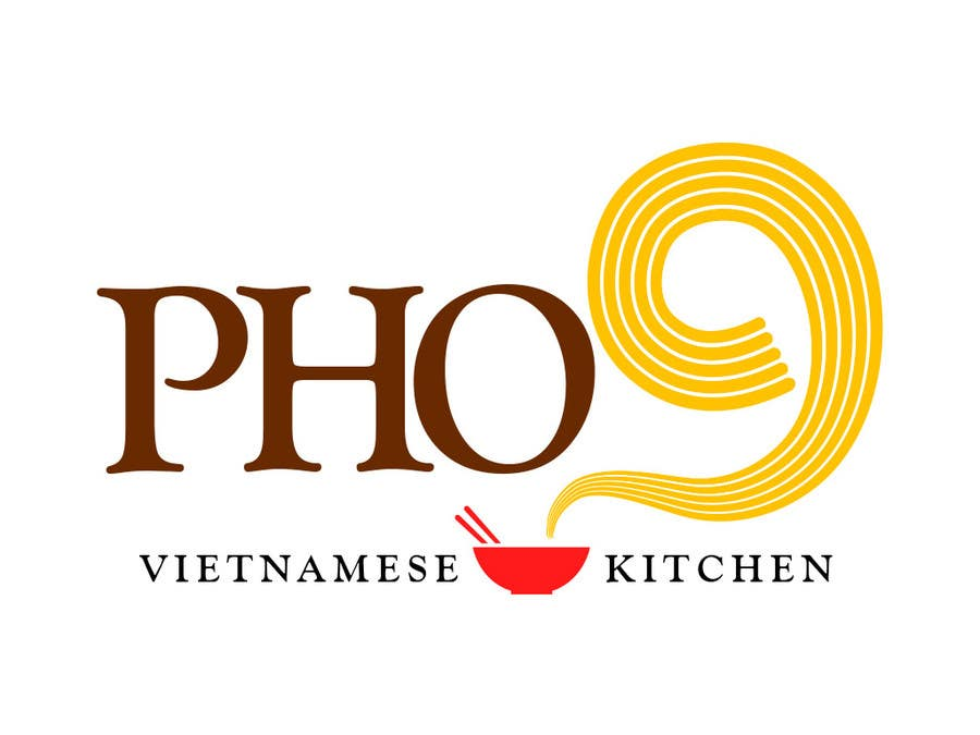"Contest Entry #41 for Design a Logo for a Vietnamese Kitchen Restaurant ""Pho Nine"""