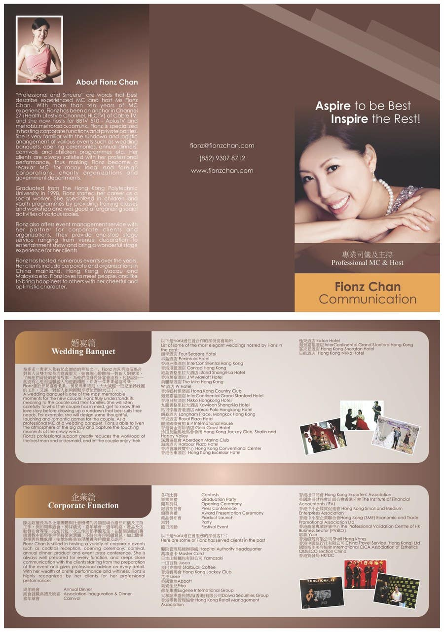 #14 for Flyer Design for a professional Master of Ceremony by barinix