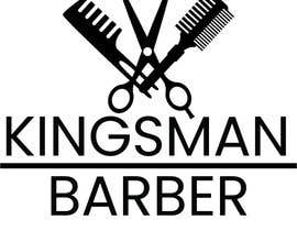 #142 for design me a cool but simple barber shop logo- (Kingsman Barbers) black & white only! by j82890