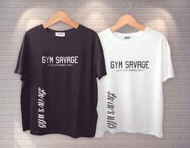 #38 para Gym Savage T- Shirt Mock up de ahmmedisti35