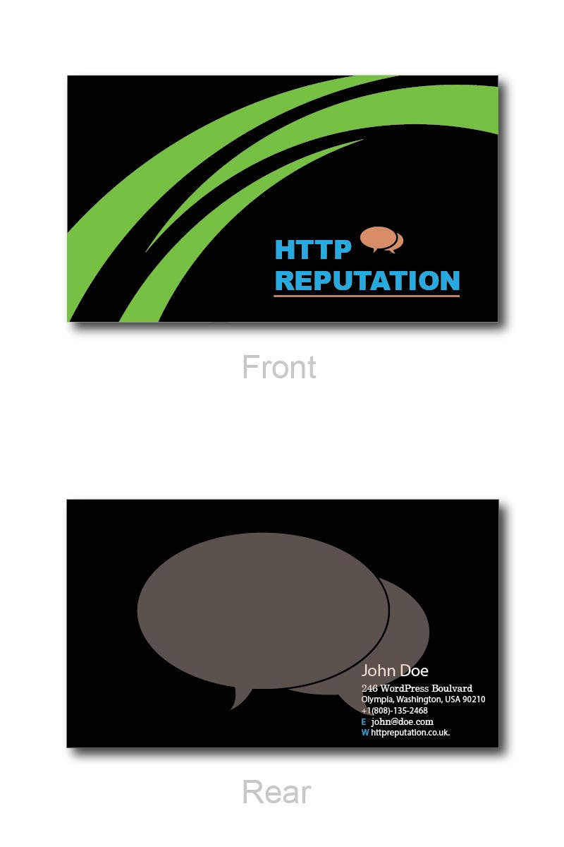 Inscrição nº                                         40                                      do Concurso para                                         Business Card and letter head Design for httpreputation