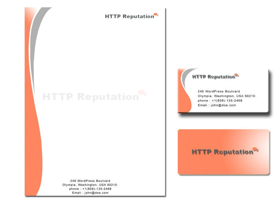 #26 for Business Card and letter head Design for httpreputation by anuprai56