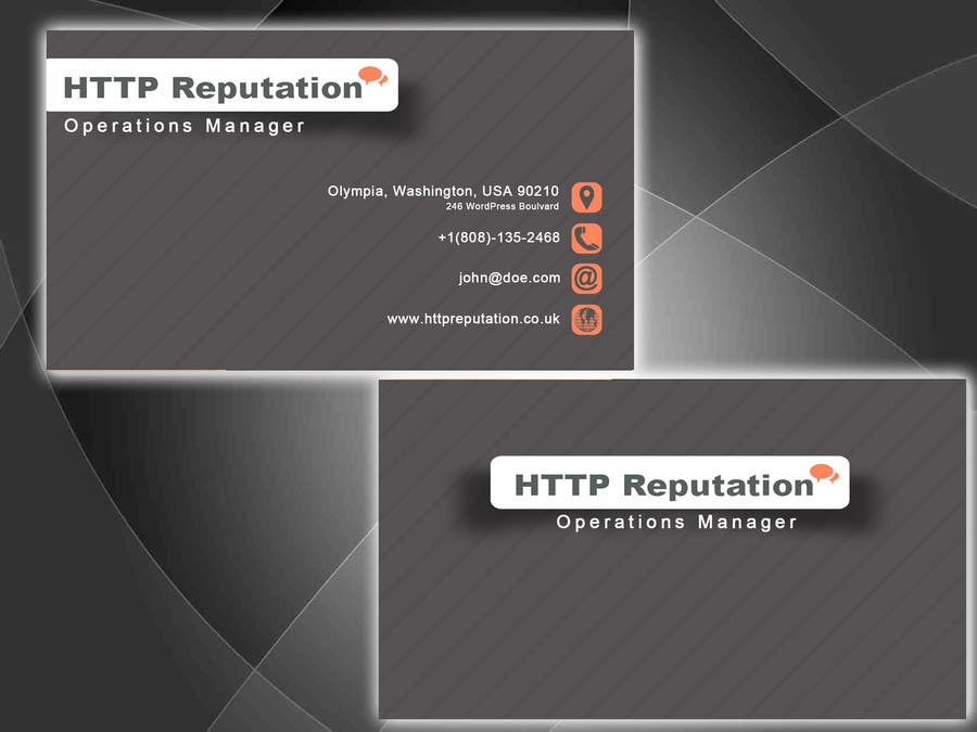 #3 for Business Card and letter head Design for httpreputation by argpan