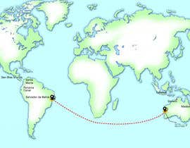 #7 for Animated Map of Sailing boat Around the World af Imumer