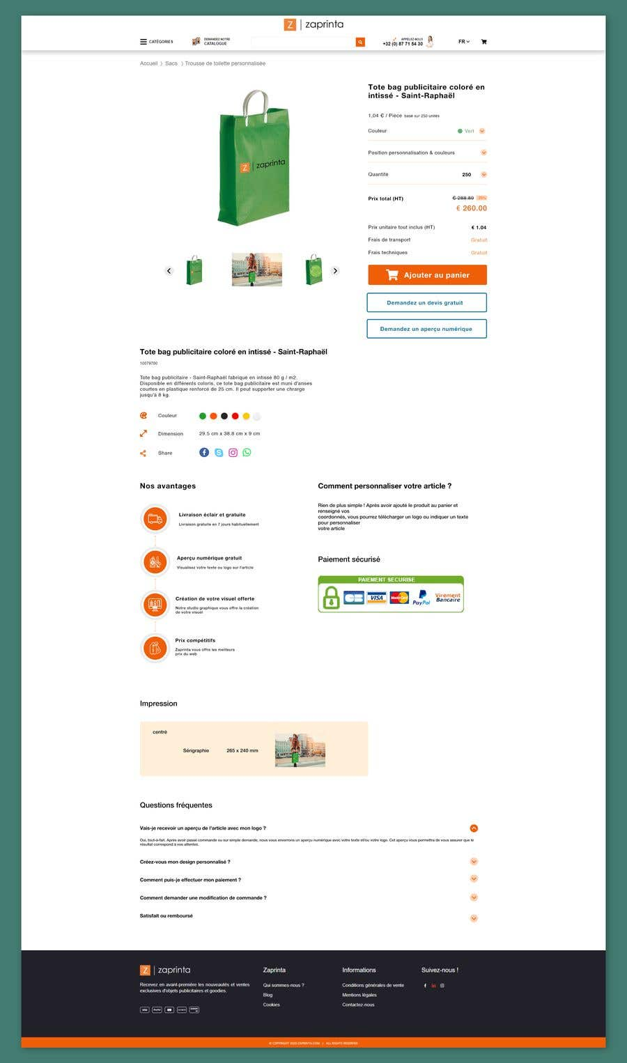 Penyertaan Peraduan #                                        56                                      untuk                                         Create a new product page template for my E-commerce website