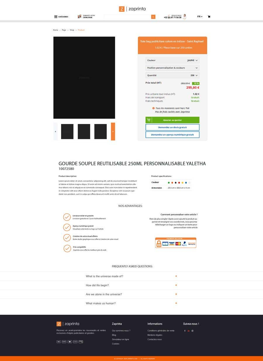 Penyertaan Peraduan #                                        18                                      untuk                                         Create a new product page template for my E-commerce website