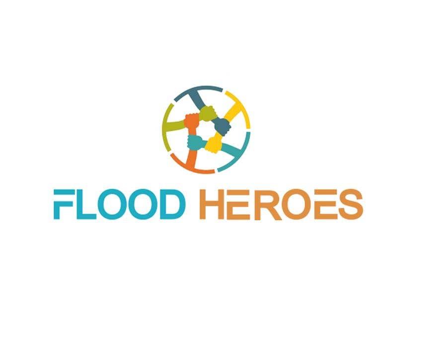 Kilpailutyö #                                        270                                      kilpailussa                                         Flood Heroes Logo