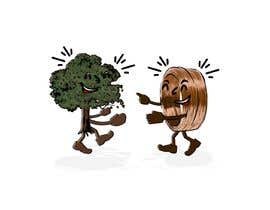 #167 for Make a picture of a tree hugging copper by estefano1983