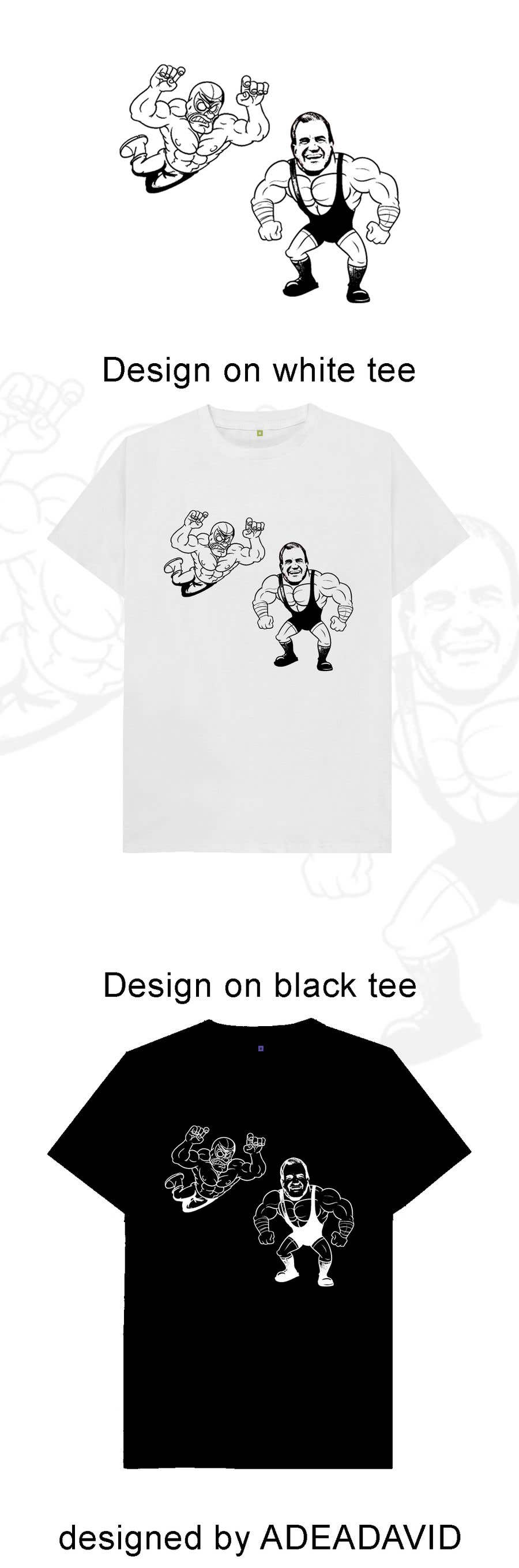 Proposition n°                                        11                                      du concours                                         caricature drawing of two wrestlers and one with my friends face and the other with mask