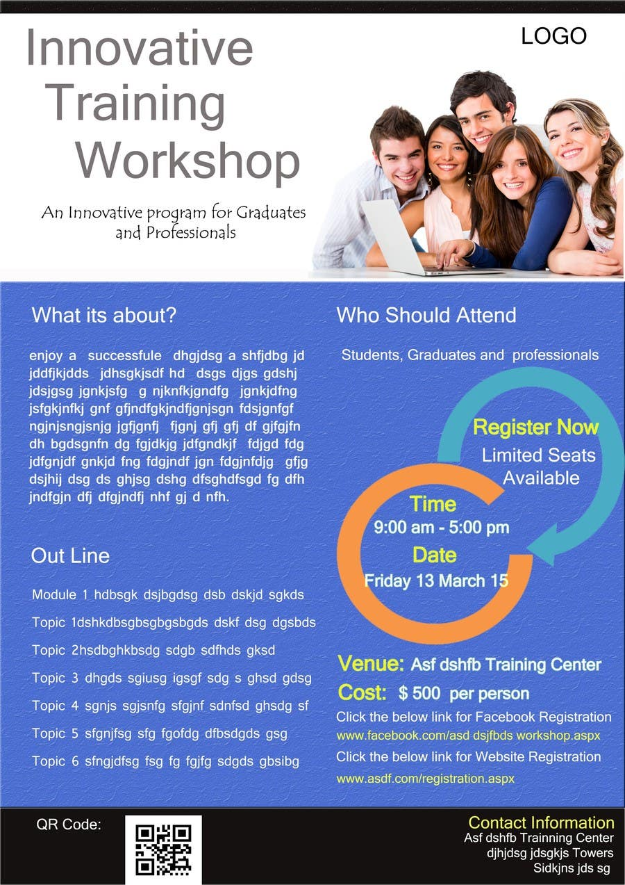 entry 4 by sirishaigiat for design a flyer for training workshop