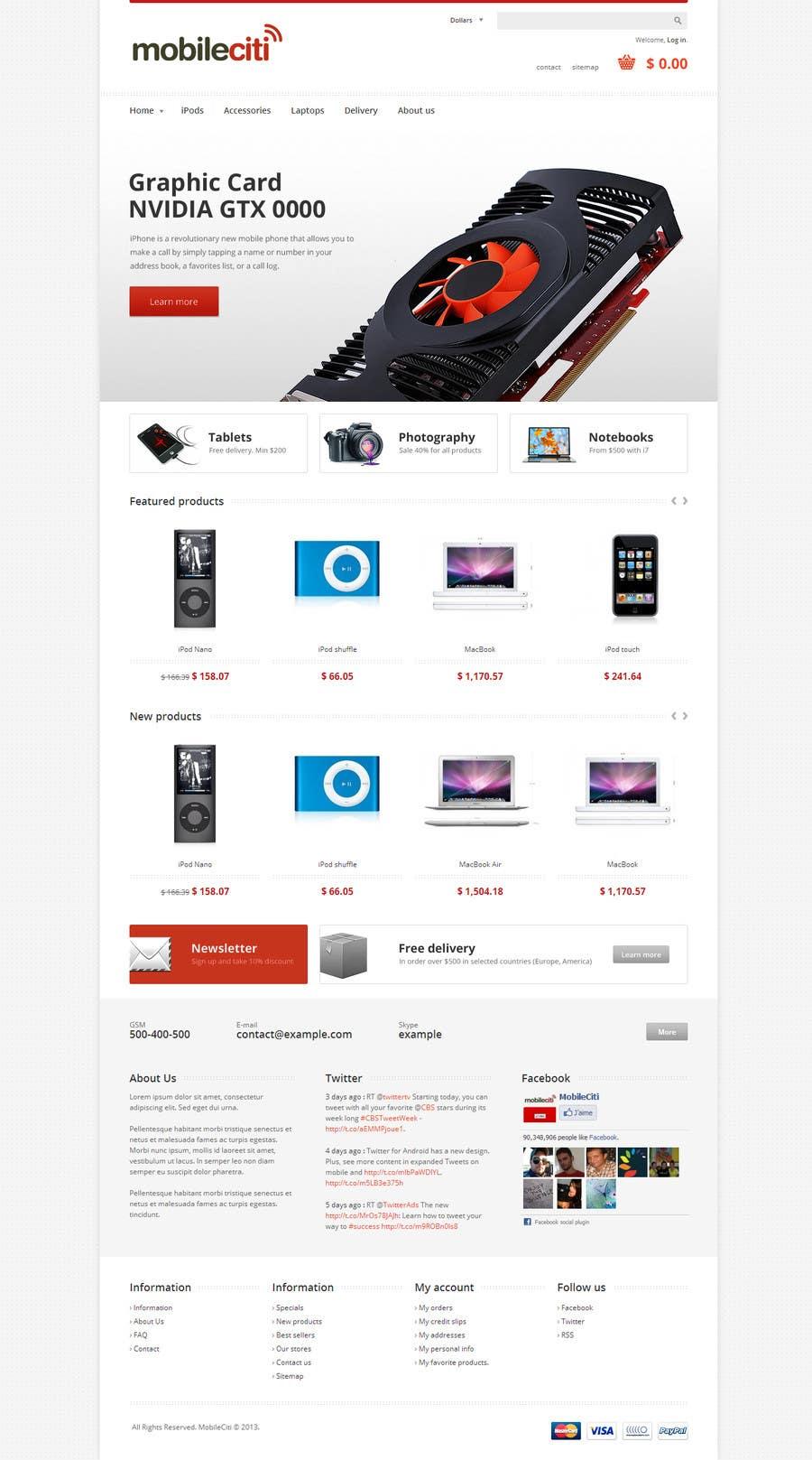 #35 for Website Design for Magento by dragnoir