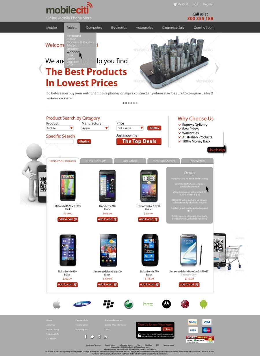 #43 for Website Design for Magento by Dzains