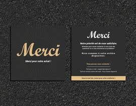 #56 para Create/Design a Thank You card for customers purchase por Designopinion