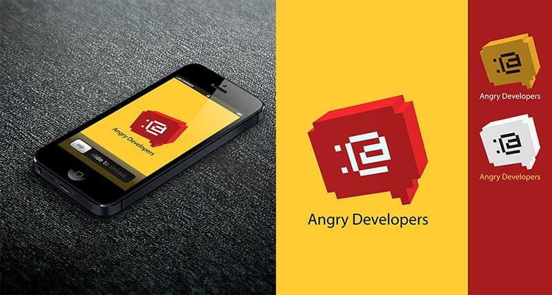 Inscrição nº                                         25                                      do Concurso para                                         Logo Design for Angry Developers