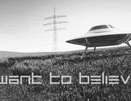"#27 para T-shirt Design for ""I Want To Believe"" UFO shirt. por kittikann"