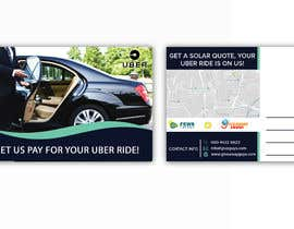 "#7 dla Postcard for ""Let Us Pay for Your Uber Ride"" przez miloroy13"