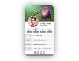 #33 dla 5 Template for Digital Business Card przez smartghart