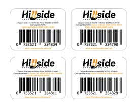 #11 dla Design us product labels with logo text and barcodes. przez kalaja07