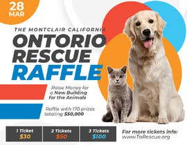 #77 dla Create a Raffle Banner for Animal Rescue przez nimfreeda