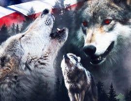 #115 dla Professional Wolf Shirt Design (Photoshop) przez CreactualDesigns