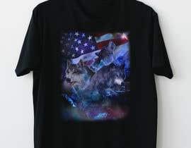#16 dla Professional Wolf Shirt Design (Photoshop) przez andresduquex
