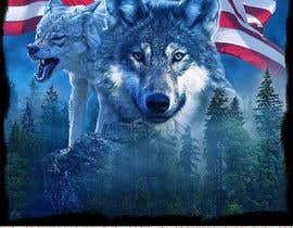 #100 dla Professional Wolf Shirt Design (Photoshop) przez axldezcort