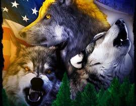 #33 dla Professional Wolf Shirt Design (Photoshop) przez marclind