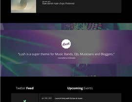 #46 para Build a home page design for a musician de habib928