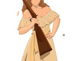 #60 para Logo Illustration Women in Dress Flexing muscle holding rifle de Sandipan01