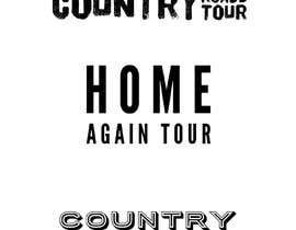 #8 para Create a name/ logo for an emerging artists country pop east coast tour de jessdowney98