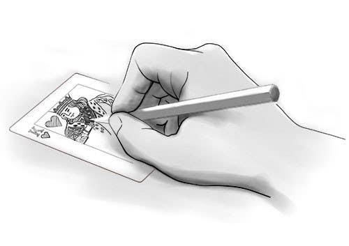 """Inscrição nº                                         12                                      do Concurso para                                         Illustration of  """"hand drawing a playing card"""""""