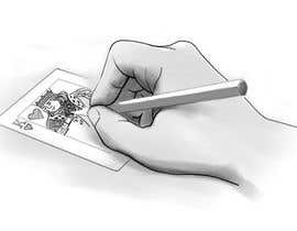 "#12 for Illustration of  ""hand drawing a playing card"" by arturkh"