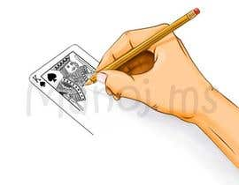 "#14 for Illustration of  ""hand drawing a playing card"" by manoms"