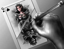 "#10 for Illustration of  ""hand drawing a playing card"" by olaklepacka"