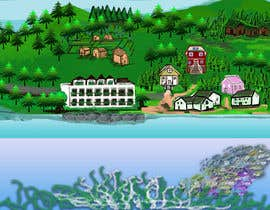 #42 para Background for mystical lake serpent de elenaodbitola9