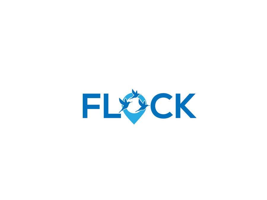 """Конкурсная заявка №                                        267                                      для                                         Logo for a travel app """"Flock"""""""
