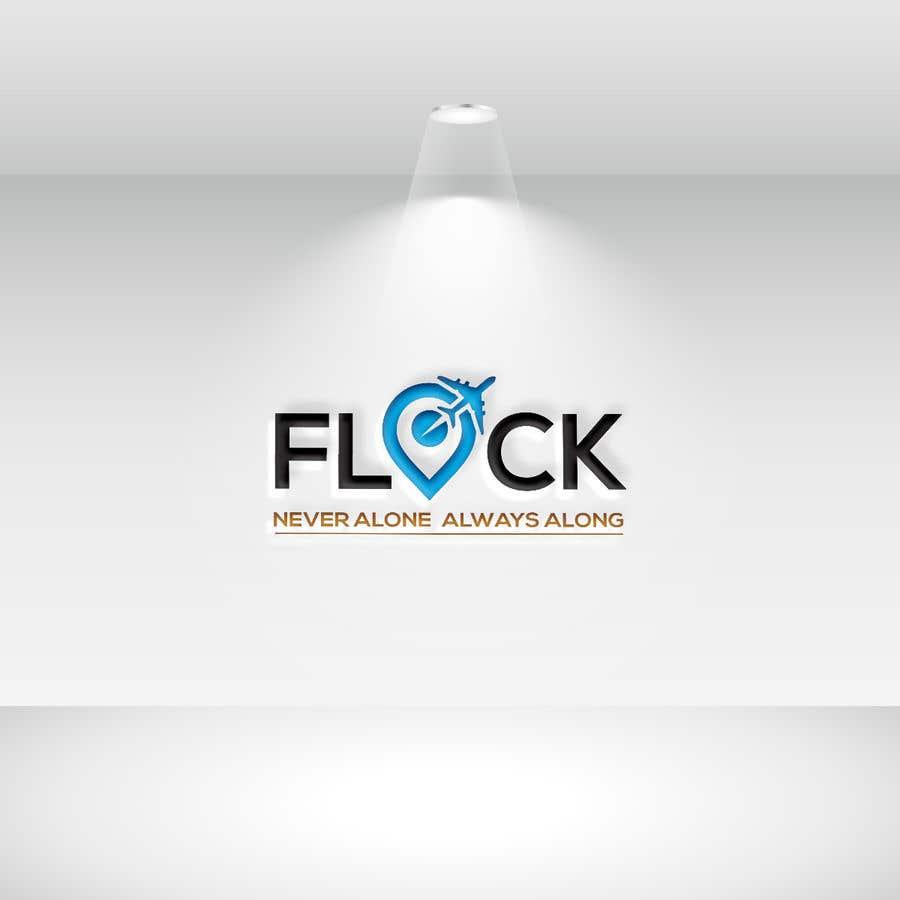 """Participación en el concurso Nro.                                        47                                      para                                         Logo for a travel app """"Flock"""""""