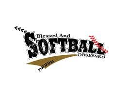 #1 for T-shirt Design: Blessed and Baseball/Softball Obsessed by reswara86