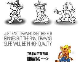 #2 untuk Draw three cartoon bunny characters in 2D as per the description provided oleh Hazemwaly1981