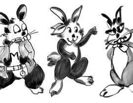 #26 untuk Draw three cartoon bunny characters in 2D as per the description provided oleh alinawazmd