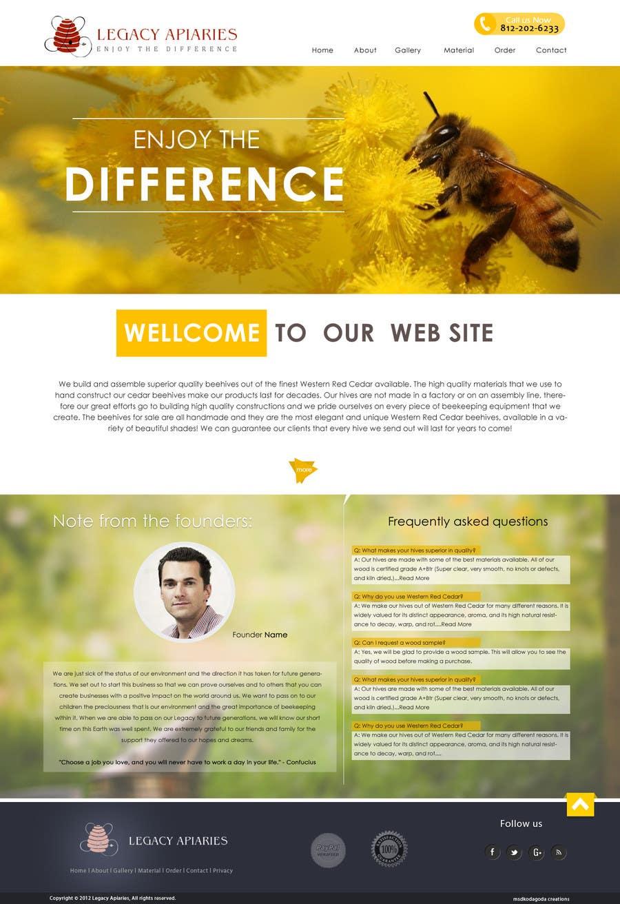Konkurrenceindlæg #                                        1                                      for                                         Website Design for newly designed beehive eCommerce site