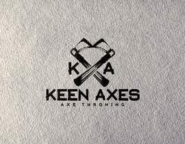 Nro 115 kilpailuun Logo design for an Axe Throwing business käyttäjältä fokirmahmud47