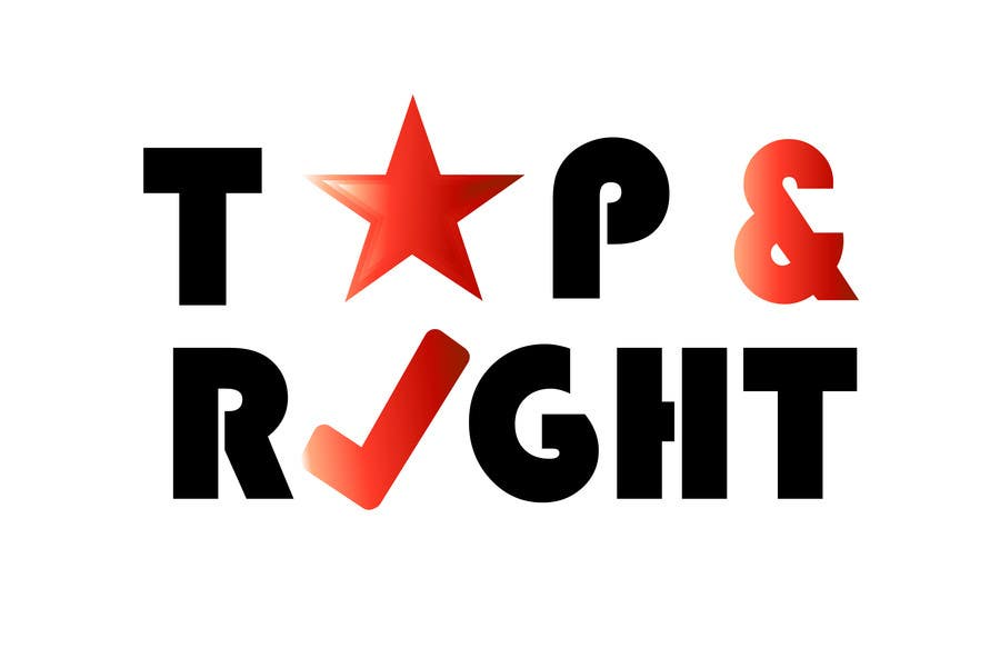"Penyertaan Peraduan #                                        118                                      untuk                                         Design a Logo for ""Top & Right"""