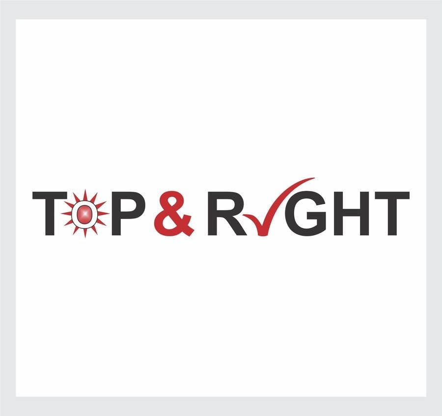 "Penyertaan Peraduan #                                        90                                      untuk                                         Design a Logo for ""Top & Right"""