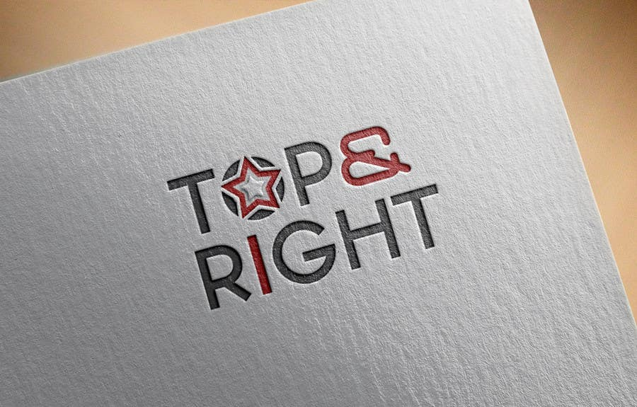 "Penyertaan Peraduan #                                        88                                      untuk                                         Design a Logo for ""Top & Right"""