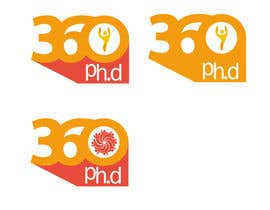 #33 para Logo Design for 360 ph.d. application por YogNel