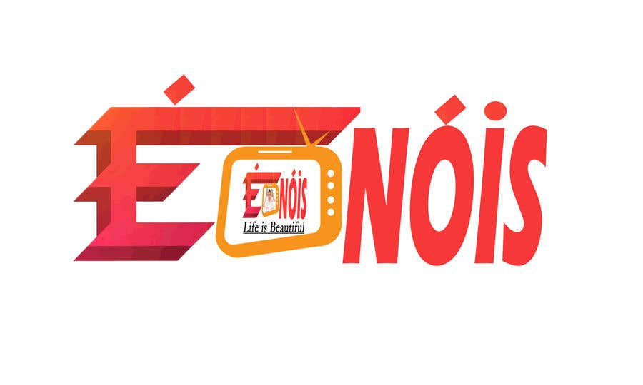 Конкурсная заявка №                                        75                                      для                                         I need a logo with the phrase  É Nóis and is for a vlog channel and I have identical twin daughters, i really want the words in a cool font and something nice but if you can add something twins related that is a bonus.