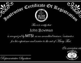 #15 untuk Make landscape style instructor certificate oleh abumuhammed4862