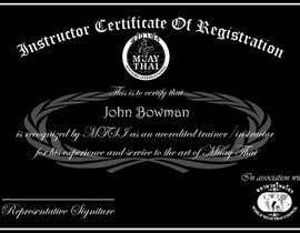 #17 untuk Make landscape style instructor certificate oleh abumuhammed4862