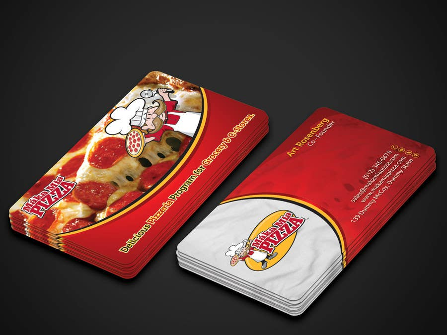 Entry #26 by kreativedhir for Design some Business Cards for Pizza ...